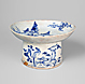 Bowl with High Stem with Mountain Landscape and Birds Design